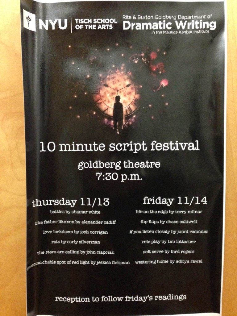 NYU 10 Minute Script Festival