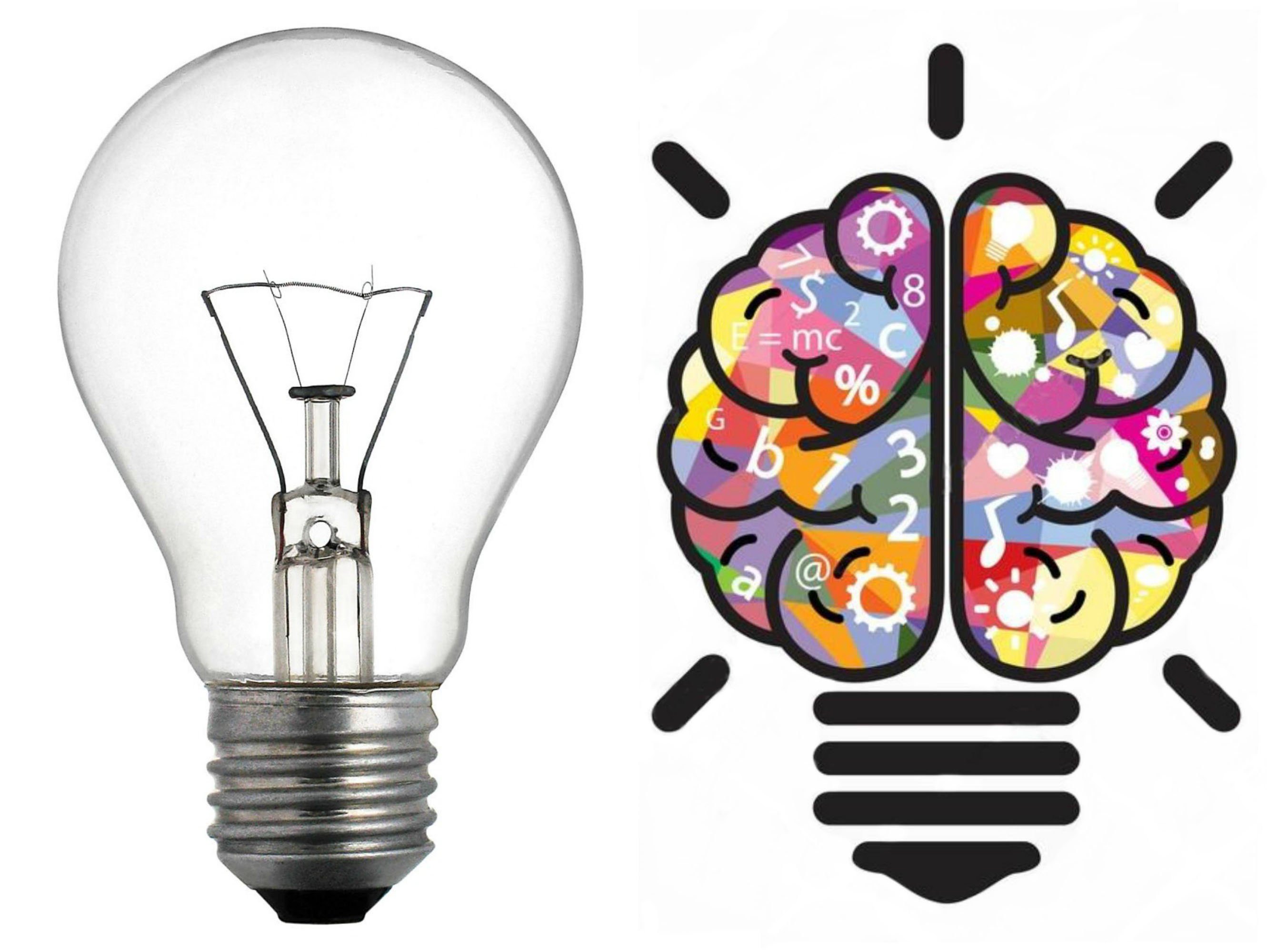 light bulb, actual and concept